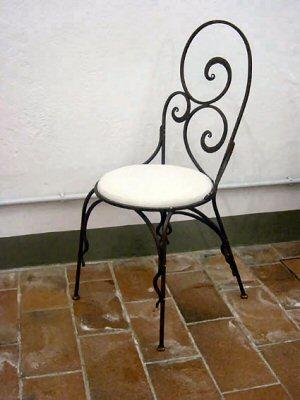 Sedia in ferro battuto for Sedie da giardino in ferro battuto